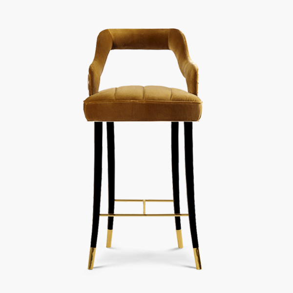 Kelly Mid-Century Modern Bar Chair